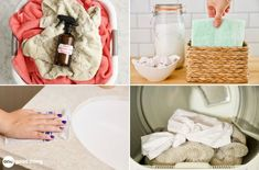 If you're having trouble finding cleaning or laundry products, make them instead! Get recipes for 26 of my favorite homemade cleaning and laundry products here. Bathroom Cleaning Hacks, House Cleaning Tips, Diy Household Tips, Household Cleaners, Homemade Fabric Softener, Creative Closets, Homemade Laundry Detergent, Homemade Cleaning Products, Clean Dishwasher