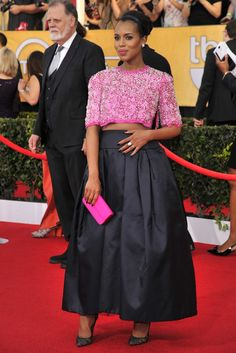 Kerry Washington in Prada. [Photo by Donato Sardella]
