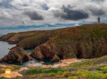 Things to do in Peniche – go to Berlenga Grande and admire the wonderful landscape.  #portugal #peniche #berlengas #lighthouse