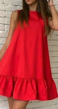 New dress casual red simple Ideas Trendy Dresses, Simple Dresses, Day Dresses, Beautiful Dresses, Nice Dresses, Casual Dresses, Short Dresses, Dresses For Work, Summer Dresses