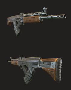 Survival Rifle, Survival Gear, Zombie Weapons, Weapons Guns, Military Weapons, Military Art, Punk Genres, Heavy Machine Gun, Fallout New Vegas
