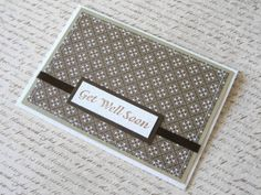 Simple Get Well Card - the words overlay the ribbon