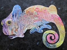 Craft for Book, The Mixed-Up Chameleon by Eric Carle