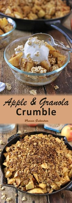 Apple Granola Crumble - Gluten Free, Apple Blueberry Granola by Bob's Red Mill added some much needed oomph to my simple spiced apples; making this Apple Granola Crumble simply cravalicious!