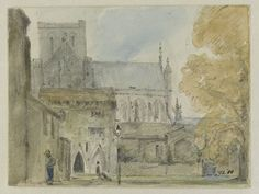Winchester Cathedral: entrance to the Deanery from the south, John Constable, 1821