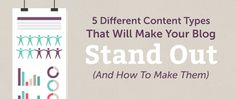 KUFRE EKPO'S BLOG: 5 Different Content Types That Will Help You Save ...