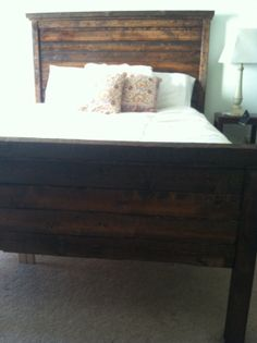 Rustic Farmhouse Bed by HenryandWales on Etsy