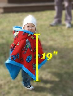 Childs Poncho Pattern Use These Instructions To Make A