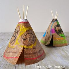 Native American Projects, American Indian Crafts, Native American Teepee, Indian Arts And Crafts, American Art, American History, Early American, Craft Activities For Kids, Diy Crafts For Kids