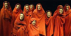Greek chorus in The Bacchai at the National Theatre This shows what the chorus could look like in Greek plays. Don Mendo, Shakespeare, Greek Chorus, Greek Plays, Ancient Greek Theatre, Roman Theatre, Greek Tragedy, Twelfth Night, Theatre Costumes