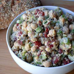 Cranberry Walnut Chickpea Salad @keyingredient #sandwich #vegan #bread