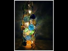 Very Good Instructions DIY Soda/Wine Bottle Night Light (Recycled Christmas Lights Idea #1)