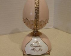 Musical Egg, Heirloom Porcelain with Crystals, Ardleigh Elliott, Treasures Memories, Daughters Gift, Musical Selection You ARE SO BEAUTIFUL - Edit Listing - Etsy