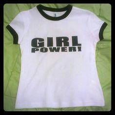 Girl Power! Spice girls! Small and Medium sizes Rib knit ringer shirt black and white small Medium   Tops Tees - Short Sleeve