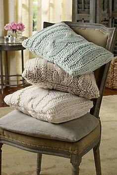 Cable Knit Boudoir  Cable knit isn't just for sweaters anymore! Our exclusive Soft Surroundings Cable Knit Boudoir Pillow is as soft and touchable as your favorite wearable kn