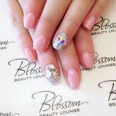 #ShareIG  customers love their bling! #gels #gelnails #nail #nails #nailinspo #naideas #nailidea #naildesign #blossombeautylounge #cute #kawaii