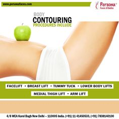 Surgical body contouring technique helps to remove excess sagging fat & skin while improving the shape of the underlying support tissue. The result is normal look with smoother contours. Stay tuned with