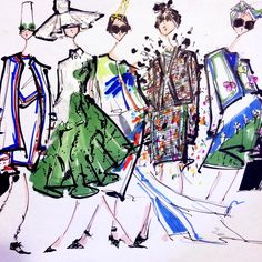 Thom Browne ss15 by J. Walton at markers and microns