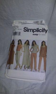 Simplicity Sewing Pattern 5070 PLUS Size 20W-28W Women's Dress Top Pants  Uncut #SIMPLICITYPlusSizeSewingPatterns