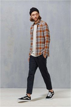 Levi's Rustic Plaid Button-Down Workshirt Casual Outfits, Men Casual, Fashion Outfits, Fashion Ideas, Simple Outfits, Vans Outfit Men, Streetwear Men, Style Masculin, Man Style