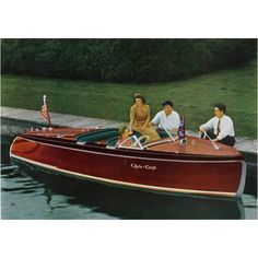 Wooden Chris Craft Custom Runabout on Geneva Lake in Lake Geneva Wisconsin in the Early Wooden Speed Boats, Chris Craft Boats, Classic Wooden Boats, Classic Boat, Runabout Boat, Wooden Boat Plans, Vintage Boats, Boat Art, Old Boats