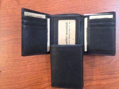 Black Tri-Fold Wallet
