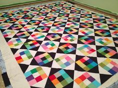 "Sublime ""Kona Challenge"" quilt top by Rachel McPhail. This is SOOOOO good! Can't wait to see it after it is quilted!"