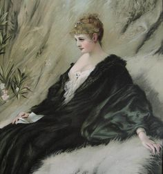 c1895 Victorian Lady Print Antique Frame Glass Koppay Half Yard Long Offered by Victorian Rose Prints on rubylane.com
