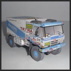 Dakar 2007 - Tomáš Tomeček's Tatra Truck Paper Model Free Download - http://www.papercraftsquare.com/dakar-2007-tomas-tomeceks-tatra-truck-paper-model-free-download.html