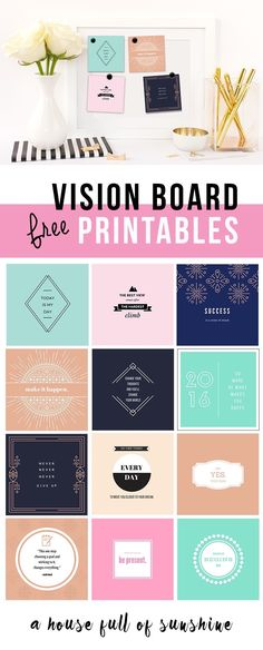 These free printables are super cute! Use them to set up a motivational vision board, and get inspired!