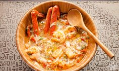 A rich and satisfying taste of the Louisiana bayou: seafood stewed up with a flexible combination of vegetables.