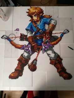 Link breath of the wild hama beads by formywife.deviantart.com on @DeviantArt