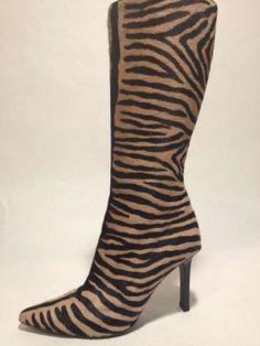 Pony Hair, Calf Hair, Animal Print Tiger Print Boots $376
