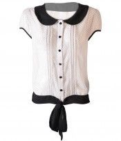 Blusa Manga Corta Diy Fashion, Fashion Outfits, Womens Fashion, Professional Attire, Business Outfits, Learn To Sew, Black And White, Sewing, My Style