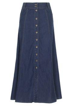 Button Through Denim Skirt  $39