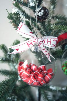 Christmas Ornament (customizable) Wishes for Christmas from your family to their