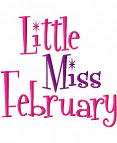 Little Miss Month  Machine Embroidery Design  7 by LilliPadGifts, $4.50
