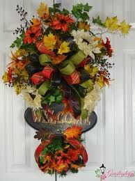 Image result for fall deco mesh swag
