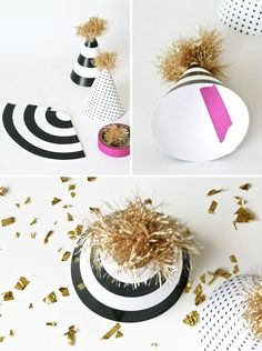 Free Printable Party Hats at PagingSupermom.com