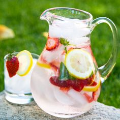 Adding basil to water gives it an amazing freshness and the fruit adds just the right amount of sweet tang.
