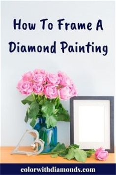 """Two of the most popular questions people ask us are """"What are the different ways to frame my diamond paintings?"""" and """"Do you have step-by-step instructions . Dot Painting, Painting Frames, Painting Tricks, Painting Canvas, Spray Painting, Diamond Art, Diamond Doodle, Diamond Cross, Diamond Picture"""