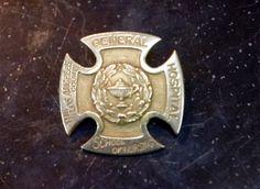 Vintage 10k Solid Gold LA County General Hospital Nursing Pin