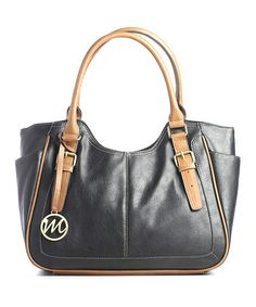 Take a look at this Black Jane Double Shoulder Bag by emilie m. on #zulily today!