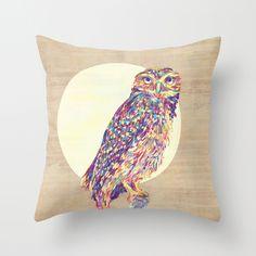 Night Owl Pillow Cover #DotAndBoDream. Loooove this.