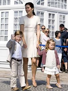 Crown Princess Mary with Prince Christian & Princess Isabella