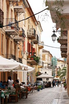 Streets of Nafplio, Greece