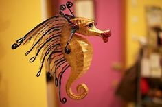 Katherine's Collection Kissing Fish- Flamboyant Sea Horse