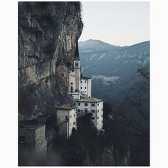 madonna della corona sanctuary near gerona, italy • photo: @chaiwalla • @spacesmagazine