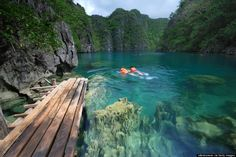 "Palawan, Phillippines: Island hop to see the cliffs, lagoons, kayak the subterranean river, stay at ""palawan camping"" for $25 a day, all inclusive! (food, sailing, fishing, kayaking, snorkeling)"