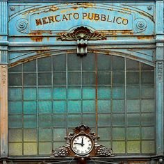 Mercato delle Erbe, Ancona. Built in 1926 in Art Nouveau style, for its realization were used metals (iron and cast iron) from the Austrian ships captured or disused.